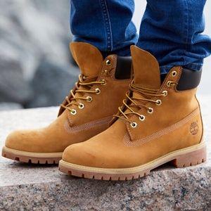 """timberland premium 6"""" nubuck waterproof boots"""